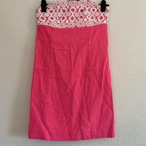 Lilly Pulitzer Bowen Crochet Strapless Dress
